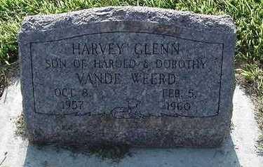 VANDEWEERD, HARVEY GLENN - Sioux County, Iowa   HARVEY GLENN VANDEWEERD