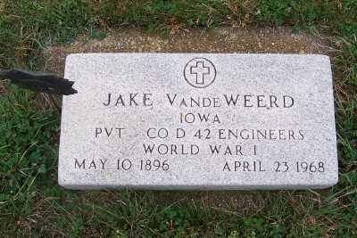 VANDEWEERD, JAKE - Sioux County, Iowa   JAKE VANDEWEERD