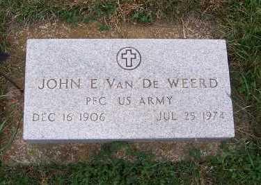 VANDEWEERD, JOHN E. - Sioux County, Iowa | JOHN E. VANDEWEERD