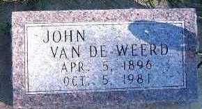 VANDEWEERD, JOHN - Sioux County, Iowa | JOHN VANDEWEERD