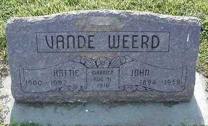 VANDEWEERD, HATTIE - Sioux County, Iowa | HATTIE VANDEWEERD