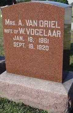 VANDRIEL, A. MRS. - Sioux County, Iowa | A. MRS. VANDRIEL