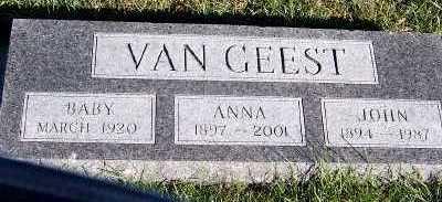 VANGEEST, ANNA - Sioux County, Iowa | ANNA VANGEEST