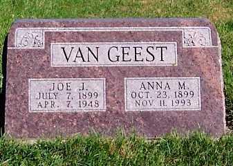 VANGEEST, JOE J. - Sioux County, Iowa | JOE J. VANGEEST