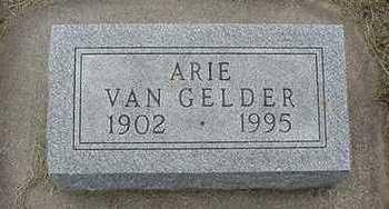 VANGELDER, ARIE - Sioux County, Iowa   ARIE VANGELDER