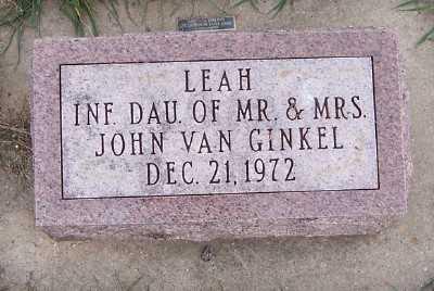 VANGINKEL, LEAH - Sioux County, Iowa | LEAH VANGINKEL