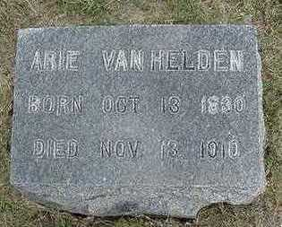 VANHELDEN, ARIE - Sioux County, Iowa   ARIE VANHELDEN