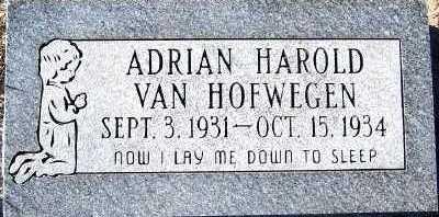 VANHOFWEGEN, ADRIAN HAROLD - Sioux County, Iowa | ADRIAN HAROLD VANHOFWEGEN