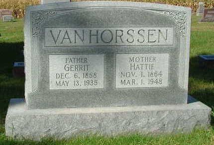 VANHORSSEN, GERRIT - Sioux County, Iowa | GERRIT VANHORSSEN