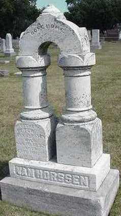 VANHORSSEN, PETER  D. 1892 - Sioux County, Iowa   PETER  D. 1892 VANHORSSEN
