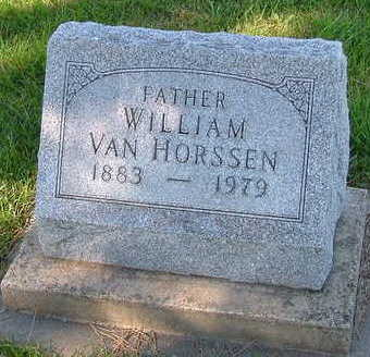 VANHORSSEN, WILLIAM - Sioux County, Iowa | WILLIAM VANHORSSEN