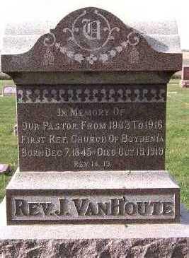 VANHOUTE, J. (REV.) - Sioux County, Iowa   J. (REV.) VANHOUTE