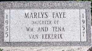 VANKEKERIX, MARLYS FAYE - Sioux County, Iowa   MARLYS FAYE VANKEKERIX