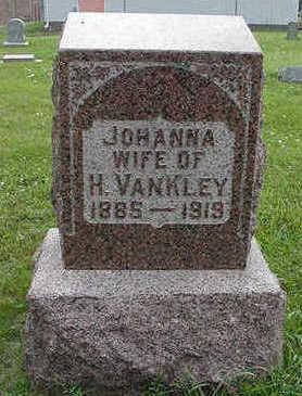 VANKLEY, JOHANNA WIFE OF H. - Sioux County, Iowa | JOHANNA WIFE OF H. VANKLEY