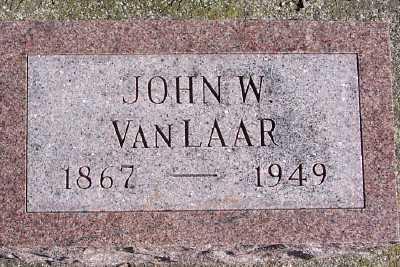VANLAAR, JOHN W. - Sioux County, Iowa   JOHN W. VANLAAR