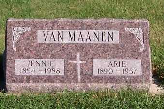 VANMAANEN, JENNIE - Sioux County, Iowa | JENNIE VANMAANEN