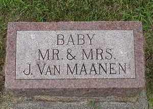 VANMAANEN, BABY OF  J. - Sioux County, Iowa   BABY OF  J. VANMAANEN
