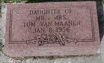 VANMAANEN, DAUGHTER - Sioux County, Iowa   DAUGHTER VANMAANEN