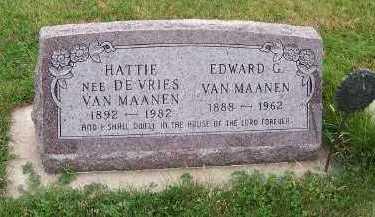 VANMAANEN, HATTIE - Sioux County, Iowa | HATTIE VANMAANEN