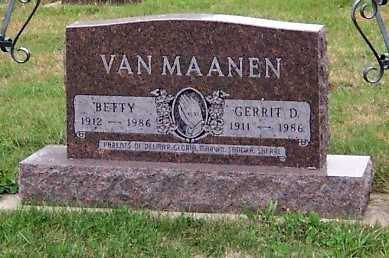 VANMAANEN, BETTY - Sioux County, Iowa | BETTY VANMAANEN