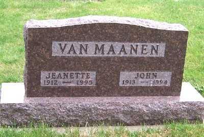 VANMAANEN, JOHN - Sioux County, Iowa | JOHN VANMAANEN
