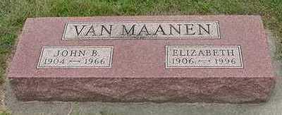 VANMAANEN, ELIZABETH - Sioux County, Iowa | ELIZABETH VANMAANEN