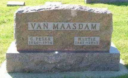 VANMAASDAM, HATTIE (MRS. C.PETER) - Sioux County, Iowa | HATTIE (MRS. C.PETER) VANMAASDAM