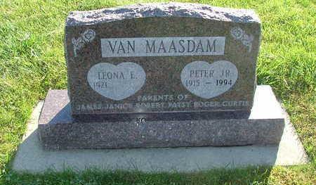 VANMAASDAM, PETER JR. - Sioux County, Iowa   PETER JR. VANMAASDAM