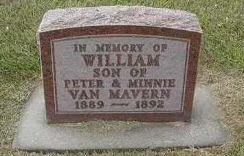 VANMAVERN, WILLIAM - Sioux County, Iowa | WILLIAM VANMAVERN