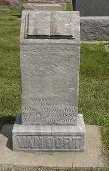 VANOORDT, JOHN W. - Sioux County, Iowa   JOHN W. VANOORDT