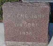 VANOORDT, WILENE JANE - Sioux County, Iowa | WILENE JANE VANOORDT