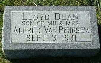 VANPEURSEM, LLOYD DEAN - Sioux County, Iowa | LLOYD DEAN VANPEURSEM