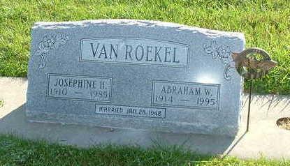 VANROEKEL, ABRAHAM W. - Sioux County, Iowa | ABRAHAM W. VANROEKEL
