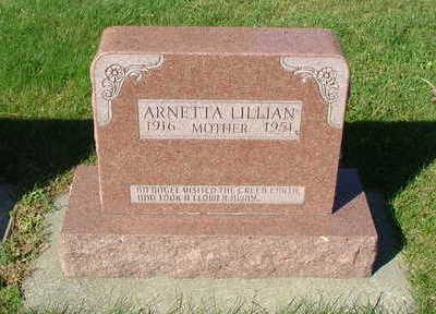 VANROEKEL, ANNETTA LILLIAN - Sioux County, Iowa | ANNETTA LILLIAN VANROEKEL