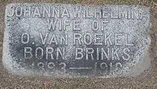 VANROEKEL, JOHANNA WILHELMINA (MRS. OTTO) - Sioux County, Iowa | JOHANNA WILHELMINA (MRS. OTTO) VANROEKEL