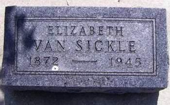 VANSICKLE, ELIZABETH - Sioux County, Iowa   ELIZABETH VANSICKLE