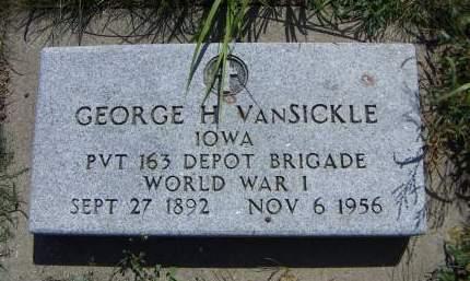 VANSICKLE, GEORGE H. - Sioux County, Iowa | GEORGE H. VANSICKLE