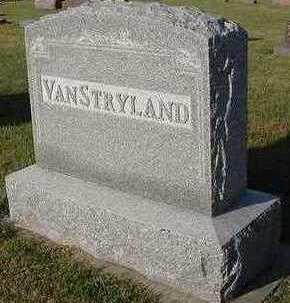 VANSTRYLAND, HEADSTONE - Sioux County, Iowa | HEADSTONE VANSTRYLAND