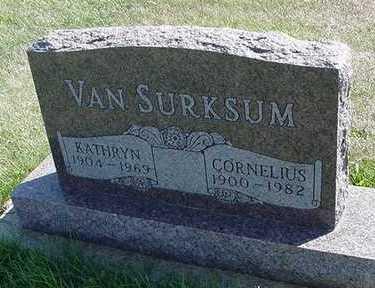 VANSURKSUM, KATHRYN (MRS. CORNELIUS) - Sioux County, Iowa | KATHRYN (MRS. CORNELIUS) VANSURKSUM