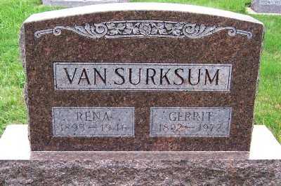 VANSURKSUM, RENA (1893-1946) - Sioux County, Iowa   RENA (1893-1946) VANSURKSUM