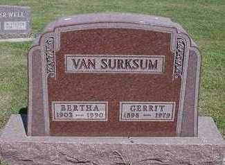 VANSURKSUM, BERTHA - Sioux County, Iowa | BERTHA VANSURKSUM
