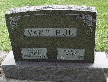 VANTHUL, FANNY - Sioux County, Iowa | FANNY VANTHUL