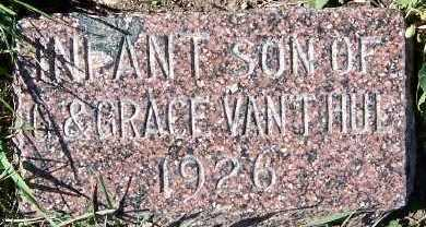 VANTHUL, INFANT SON OF G. & GRACE - Sioux County, Iowa | INFANT SON OF G. & GRACE VANTHUL
