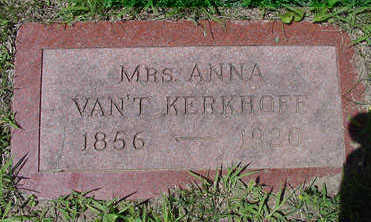 VANTKERKHOFF, ANNA MRS. - Sioux County, Iowa | ANNA MRS. VANTKERKHOFF
