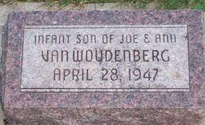VANWOUDENBURG, INFANT SON - Sioux County, Iowa | INFANT SON VANWOUDENBURG
