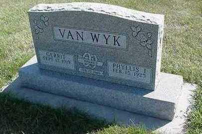 VANWYK, PHYLLIS - Sioux County, Iowa | PHYLLIS VANWYK
