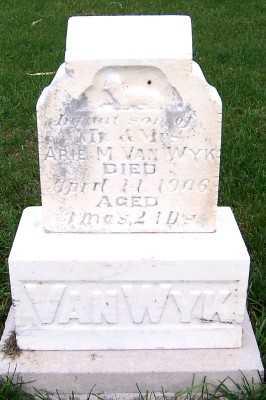 VANWYK, INF SON OF M/M ARIE M. - Sioux County, Iowa | INF SON OF M/M ARIE M. VANWYK