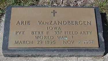 VANZANDBERGEN, ARIE - Sioux County, Iowa | ARIE VANZANDBERGEN