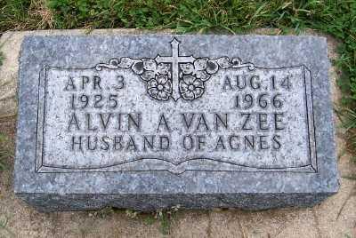 VANZEE, ALVIN A. - Sioux County, Iowa   ALVIN A. VANZEE