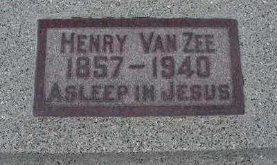 VANZEE, HENRY - Sioux County, Iowa   HENRY VANZEE